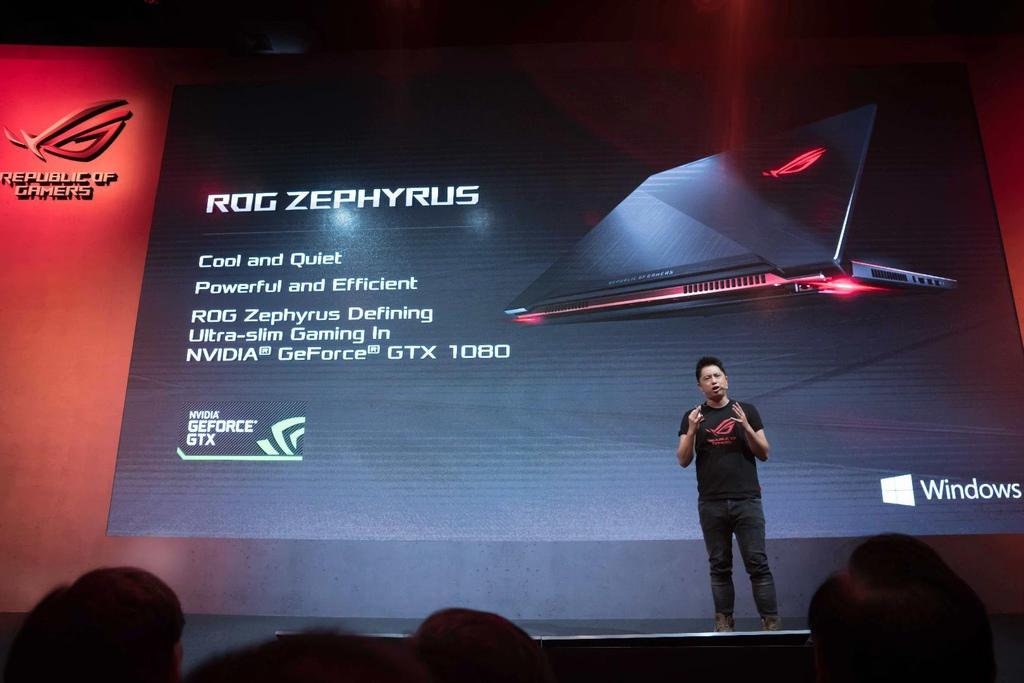 S1920x1080_ROG Marketing Director Derek Yu debuts the thinnest gaming laptop ROG Zephyrus