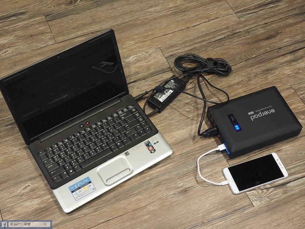 開箱-Enerpad AC-54K 萬用AC行動電源(54000 mAh)-33
