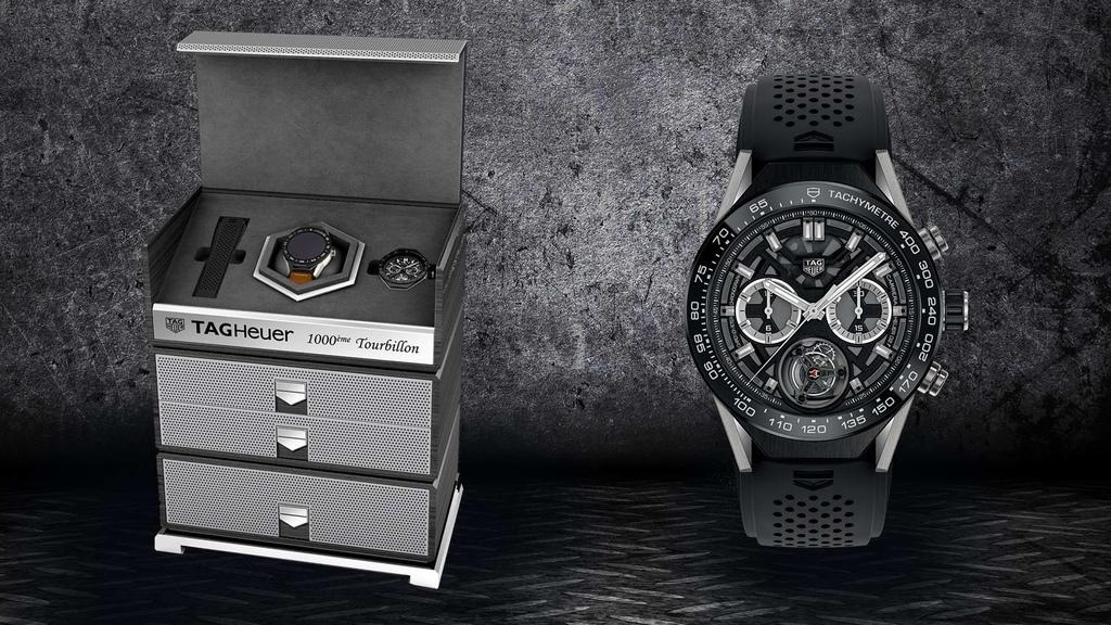 TAG Heuer Connected Modular 45智能腕錶與第1%2c000只COSC認證Heuer-02T陀飛輪機芯於eBay成套義賣。...