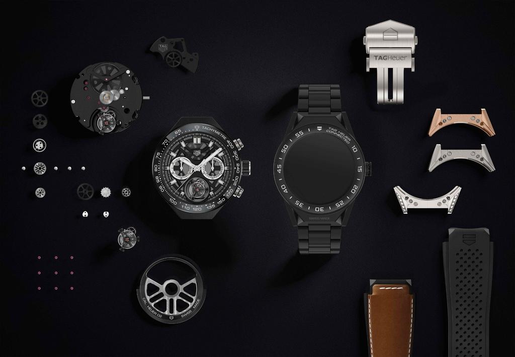 TAG Heuer Connected Modular 45智能腕錶首創模組化功能,可自由更換智慧模組能與高級製錶機械機芯模組。