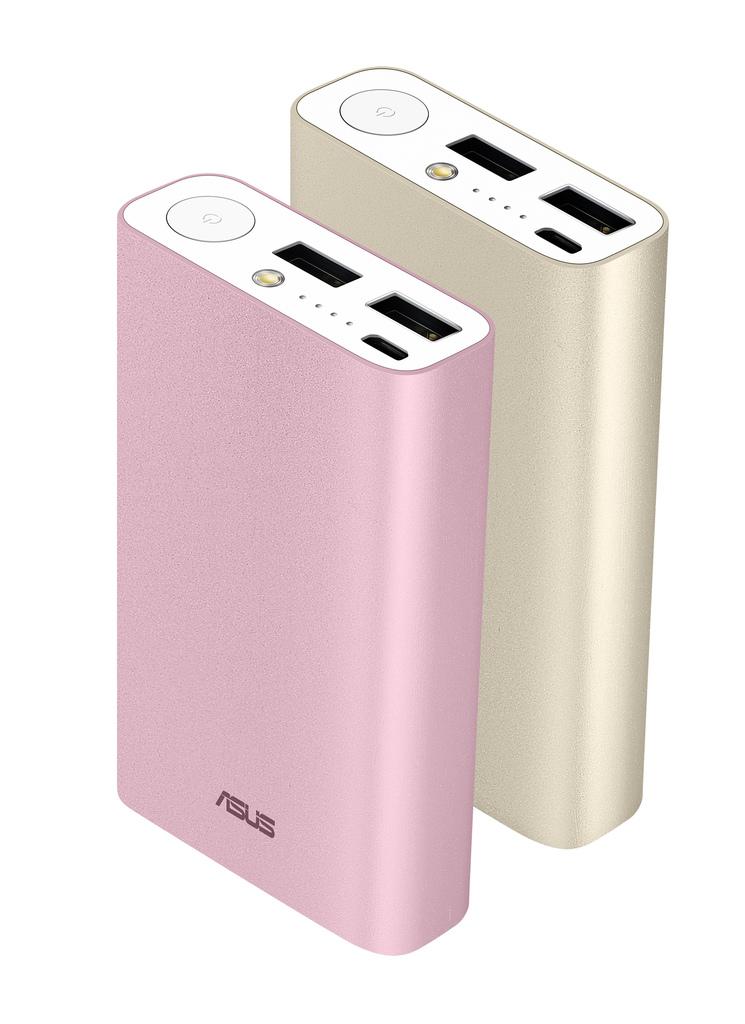 ASUS ZenPower Duo小巧身型蘊藏高達10050mAh超大電量,並配備雙USB設計,可同時替兩個行動裝置充電。