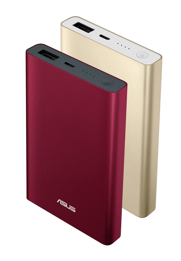 內建6000mAh高密度鋰離子聚合物電芯的全新ASUS ZenPower Pocket,提供兩款精心調和的繽紛選擇—「法國勃根地酒紅」、「澳洲黃金海岸流沙金」,低調奢華的完美外型讓使用者俐落掌握流行尖端。