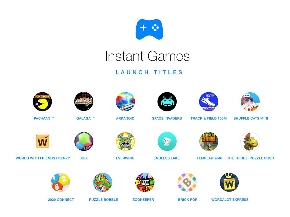 Messenger即時遊戲 - Launch Titles