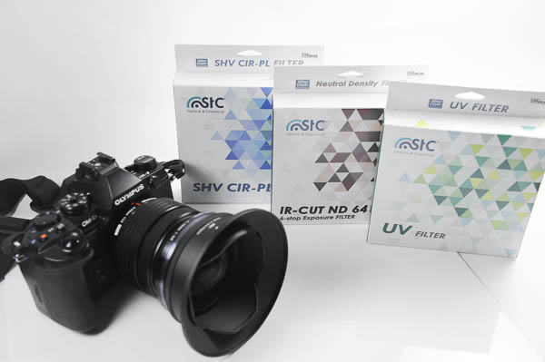 OLYMPUS 7-14 mm F2.8 PRO 專用遮光罩+UV 保護鏡、 STC 105mm CPL 偏光鏡、ND64 減光鏡 -27