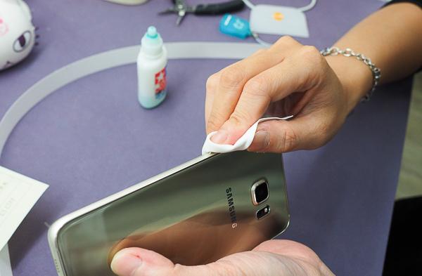 S6 edge plus 開箱、全機包膜、滿版保護貼-7