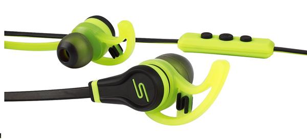 入耳式運動耳機採三鍵式麥克風線控設計,能在通話及音樂之間進行同步切換使用